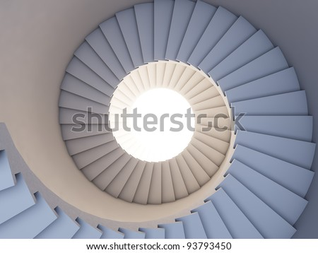 A 3d illustration of stair to the future. Background.