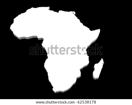 a 3d illustration of the africa map