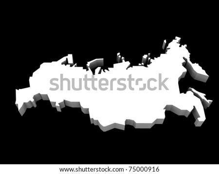a 3d illustration of the russian map