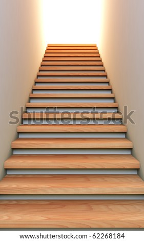 A 3D illustration of the stair to the future.
