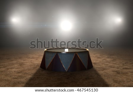 a 3d render of a classic circus ...