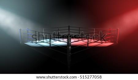 a 3d render of a modern boxing...