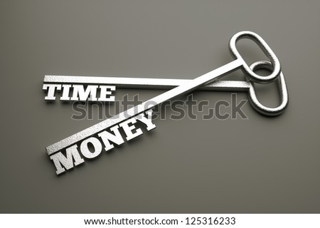 a 3d render of keys with words, creative idea