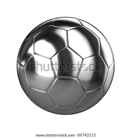 A 3d Rendered Chrome Soccer Ball Illustration