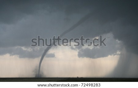 A dangerous tornado lurks on the horizon