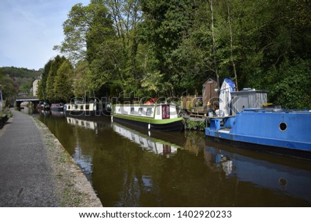 A day by the canal. Rochdale Canal, Hebden Bridge #1402920233
