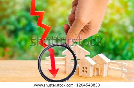 a decline in property prices. population decline. falling interest on the mortgage. reduction in demand for the purchase of housing. low prices for public utilities. arrow down. real estate