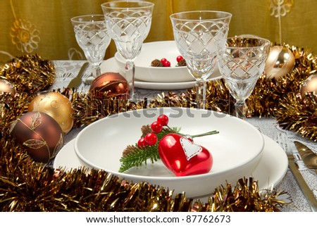 a decorated christmas table