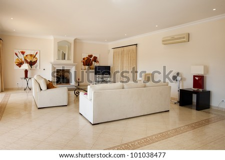 A decorated living room revealing good taste