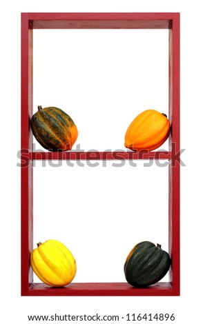 a decoration of harvest time isolated on white