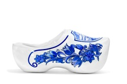 a decorative clog isolated on a white background
