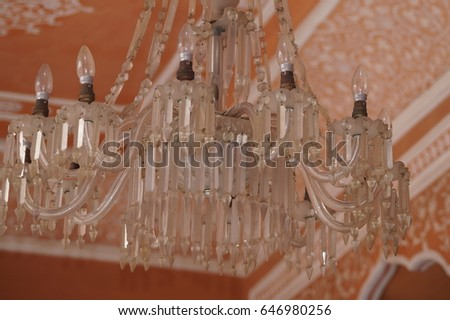 A decorative glass Chandelier #646980256