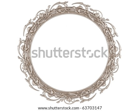 A decorative round picture frame isolated on white for putting your pictures in, similar frames available in my portfolio