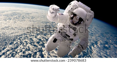 a depiction of an astronaut...