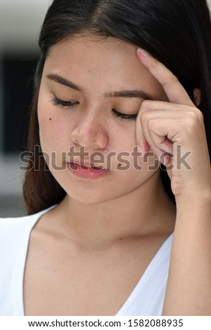 A Depressed Attractive Diverse Female