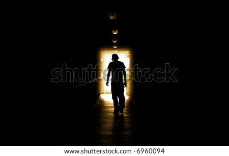 A depressed teenager walking into the Golden Light