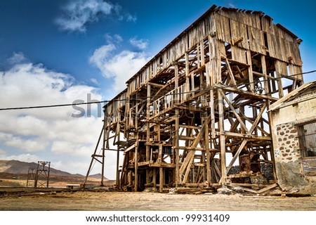 A derelict mining cabin on the Cape Verde Islands.