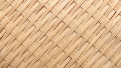 A detail handicraft bamboo weaving background. Rattan texture.