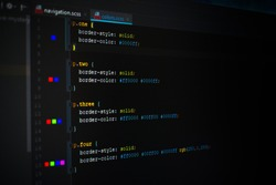A detail of a CSS (Cascading Style Sheets) code that defines the visual style of website elements.