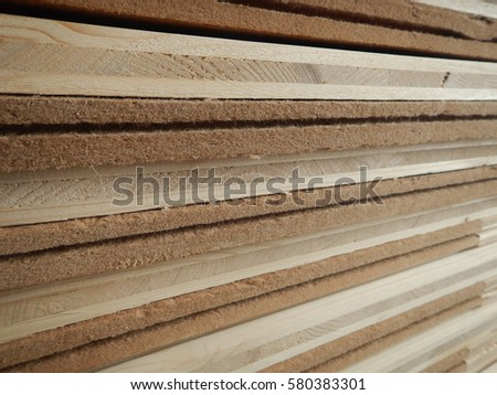 a detail of a wooden plank structure #580383301