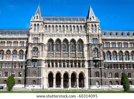 A detail of gothic Vienna city hall, Austria