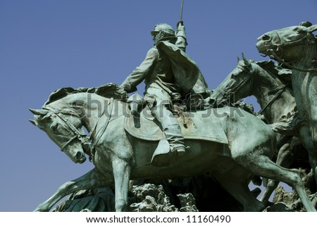 A detail of the Ulysses S. Grant Memorial. (The Grant Memorial includes the largest equestrian statue in the United States.)