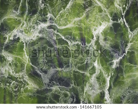 A detailed green marble stone texture background