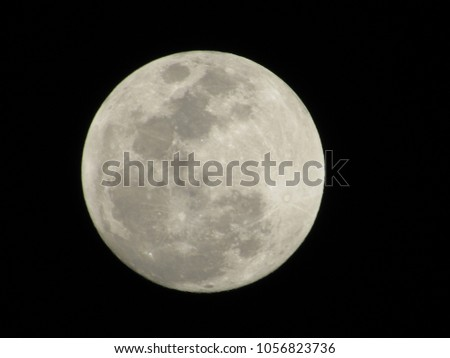 A detailed picture of the moon.
