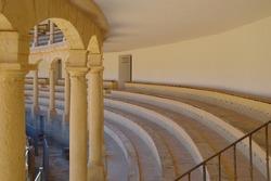 a detal of an andalusian bullfighting arena
