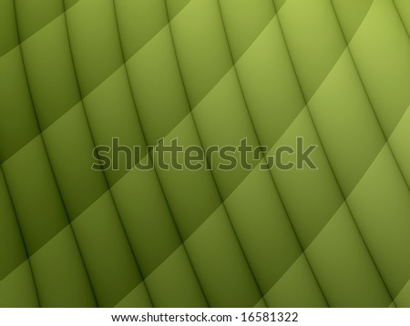 A digital artwork featuring a cross hatch quilted pattern in shades of green. - stock photo
