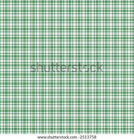 A digitally created green and white plaid with texture.