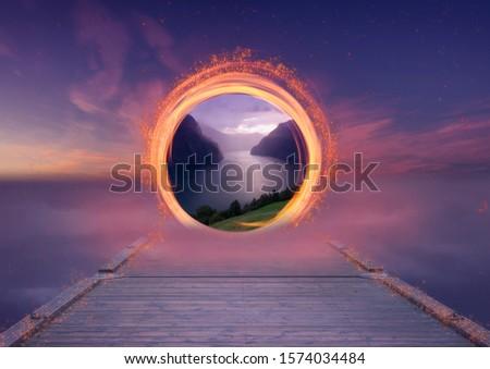 A dimensional portal in the sky