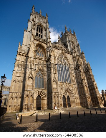 A distorted view of the York Minster, York, England