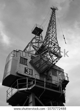 a disused crane at bristol...