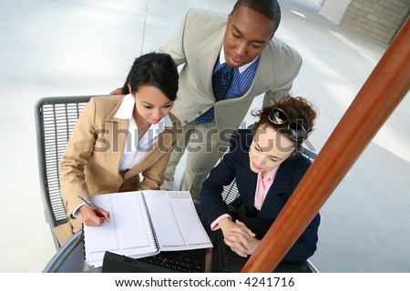 A diverse business group or team with several nationalities