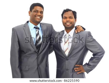 A diverse business man team walking down stairs