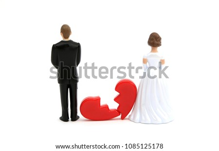 A divorced couple with a broken heart #1085125178