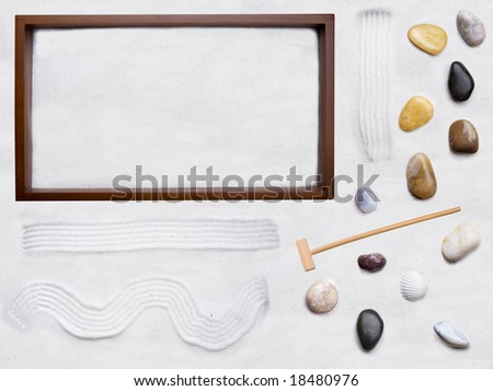 A do it yourself background for zen cart - move the rocks and sand around in the box and create your own zen garden