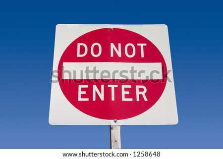 A Do Not Enter roadsign.