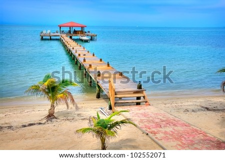 A Dock on the Coast of Belize