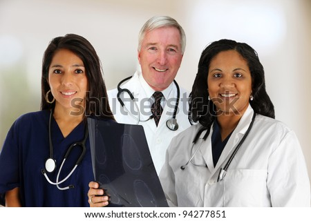 A Doctor and Nurse Team set in their office