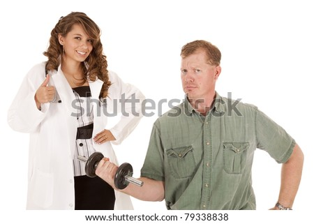a doctor and patient