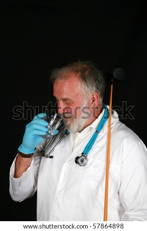 "a doctor or surgeon enjoys an ""adult beverage"" right before or after surgery"