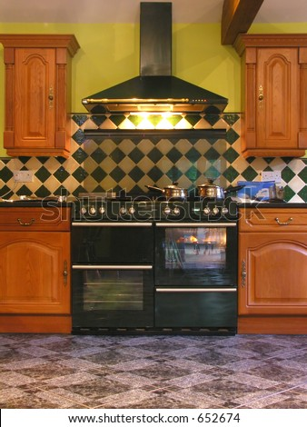 A double cooker in a posh kitchen