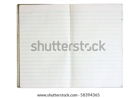 A Double Page Open Notebook With Blue Lined Paper Sheets Aged And – Double Lined Paper