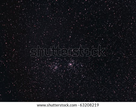 A double star cluster in the Constellation Perseus