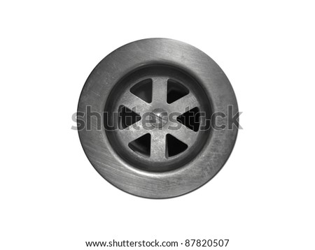 A drain hole isolate on a white background