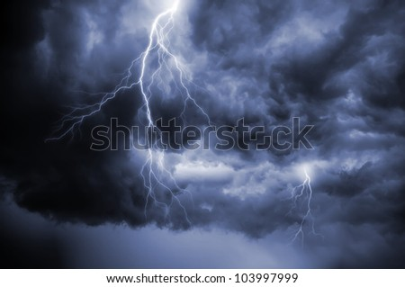 A dramatic thunderstorm sky view.