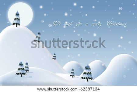 A drawn background for a Christmas card