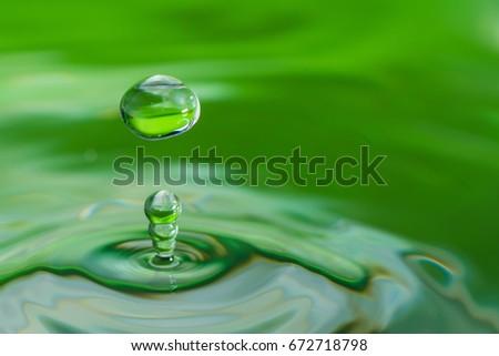Stock Photo A drop of water create a stunning random water effect.